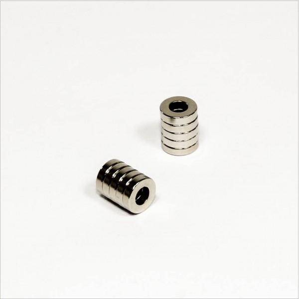 D8-d4x2mm - N44 NdFeB Ring Magnet - NiCuNi