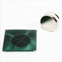 D30x5mm - N48 NdFeB Scheiben Magnet Multipol 4 - NiCuNi