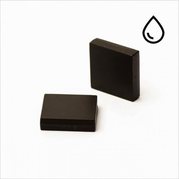 19.05x19.05x3,18mm - N35 NdFeB Quader Magnet - kunststoffummantelt/wasserfest