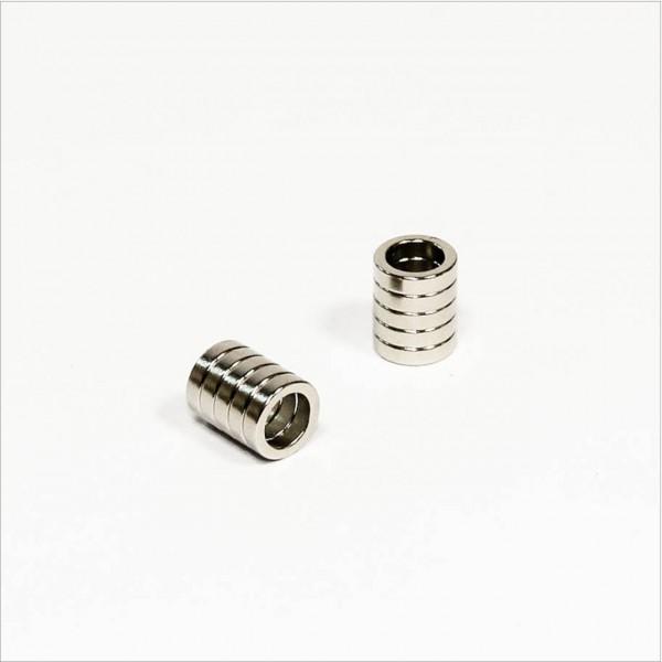 D8-d5,5x2mm - N45 NdFeB Ring Magnet - NiCuNi