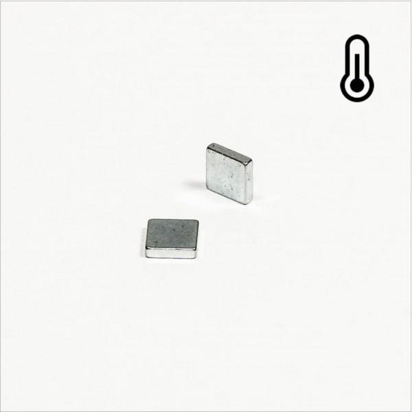 5x5x1,2mm - 45SH NdFeB Quader Magnet - Zink