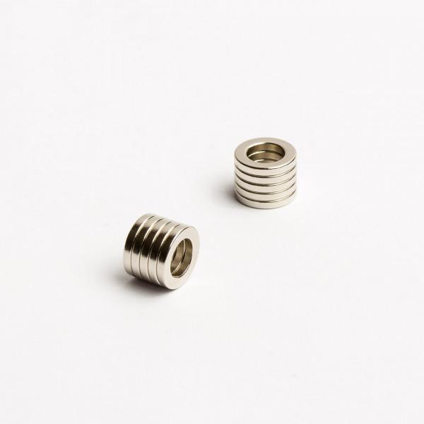 D10-d6x1,5mm - N52 NdFeB Ring Magnet - NiCuNi