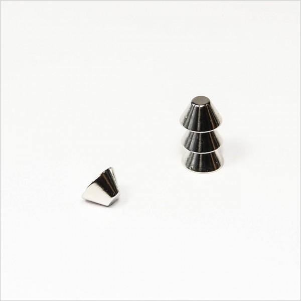 7/3x4mm - N48 NdFeB Konus Magnet - NiCuNi