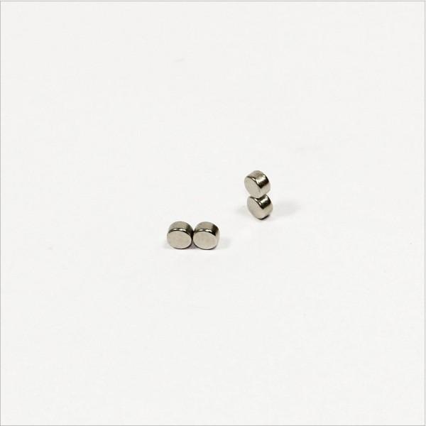 D3,5x2mm - N45 NdFeB Scheiben Magnet diametral - NiCuNi
