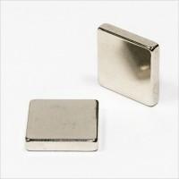 20x20x4mm - N42 NdFeB Quader Magnet - NiCuNi