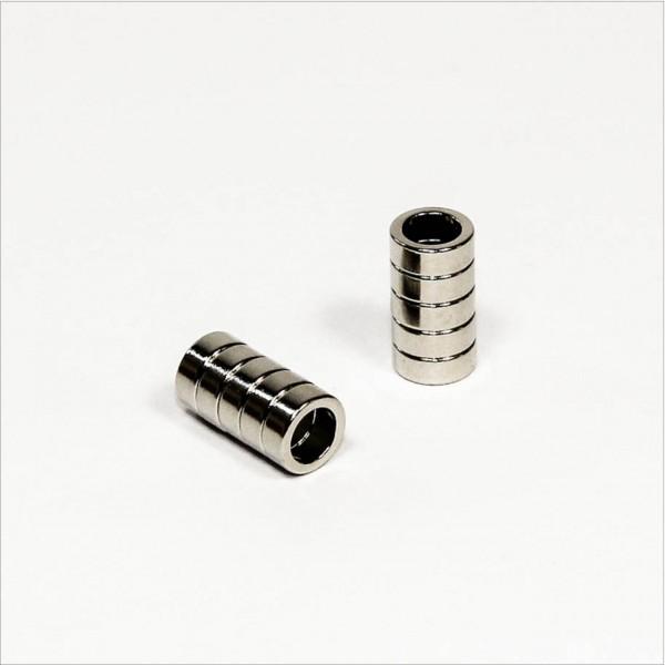 D8-d5,5x3mm - N45 NdFeB Ring Magnet - NiCuNi