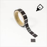 Magnetplättchen vom Band 20x20mm selbstklebend
