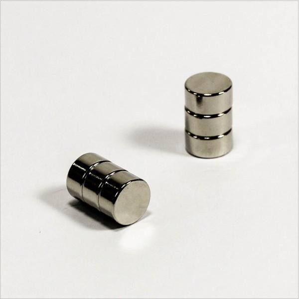 D8x4mm - N48 NdFeB Scheiben Magnet - NiCuNi