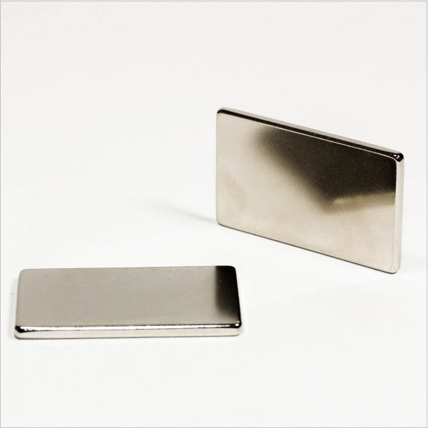 50x30x3mm - N42 NdFeB Quader Magnet - NiCuNi