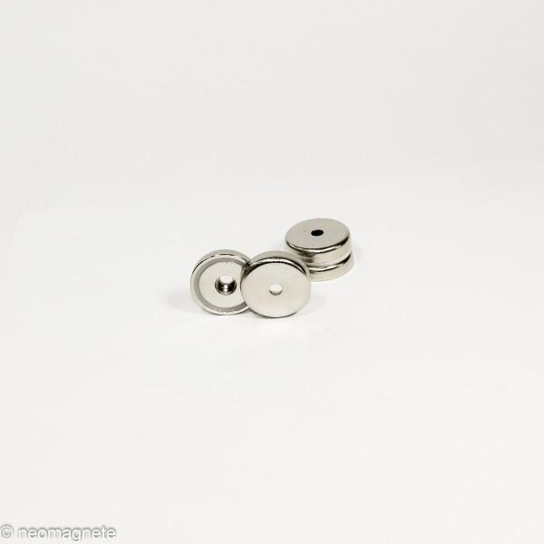 D36mm - N35 Topfmagnet mit Loch - NiCuNi