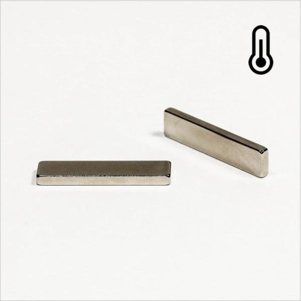 30x7x2,5mm - 45SH NdFeB Quader Magnet - NiCuNi