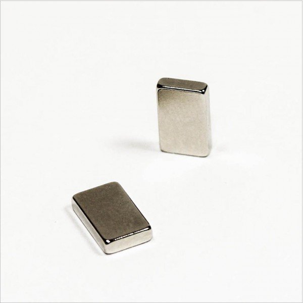 10x6x2mm - N48 NdFeB Quader Magnet - NiCuNi