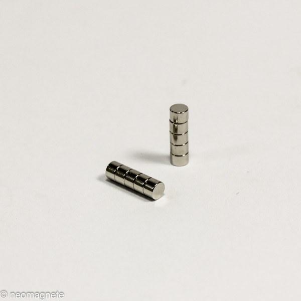 D3x2mm - N48 NdFeB Scheiben Magnet - NiCuNi