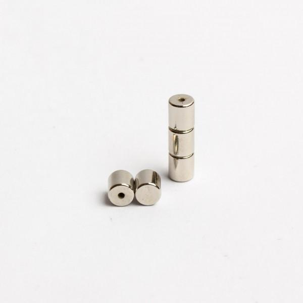 D4,5x5mm - N42 NdFeB Zylinder Magnet mit Blindloch - NiCuNi - Set