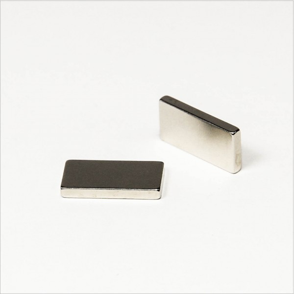 16x8x2mm - N48 NdFeB Quader Magnet - NiCuNi