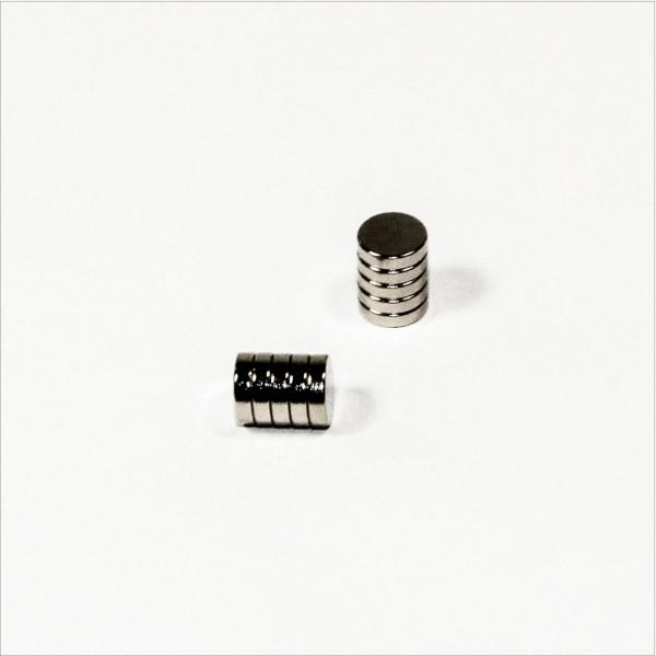 D6x1,5mm - N50 NdFeB Scheiben Magnet - NiCuNi