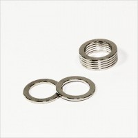 D15-d10,6x1mm - N30 NdFeB Ring Magnet Multipol - NiCuNi