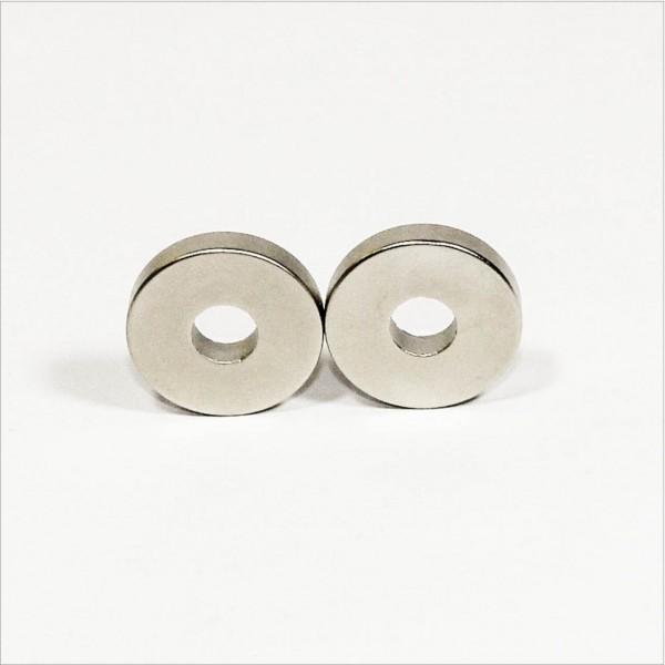 D30-d10x6mm - N42 NdFeB Ring Magnet diametral - NiCuNi