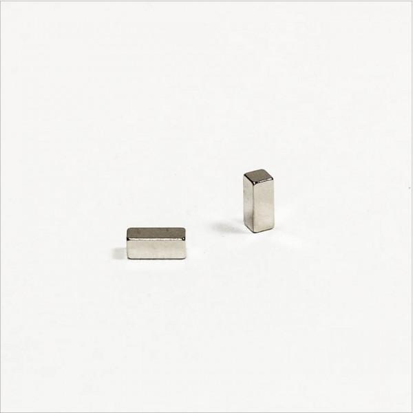 5x2x2mm - N45 NdFeB Quader Magnet - NiCuNi
