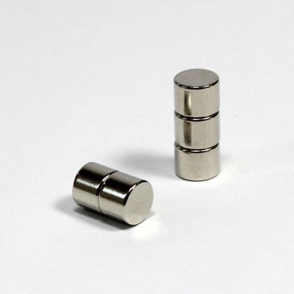D8x6mm - N45 NdFeB Scheiben Magnet - NiCuNi