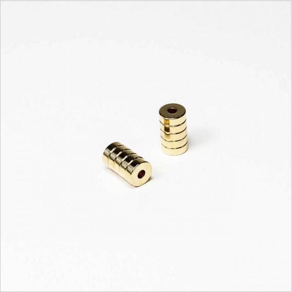 D6-d2x2mm - N45 NdFeB Ring Magnet - NiCuNi-Au
