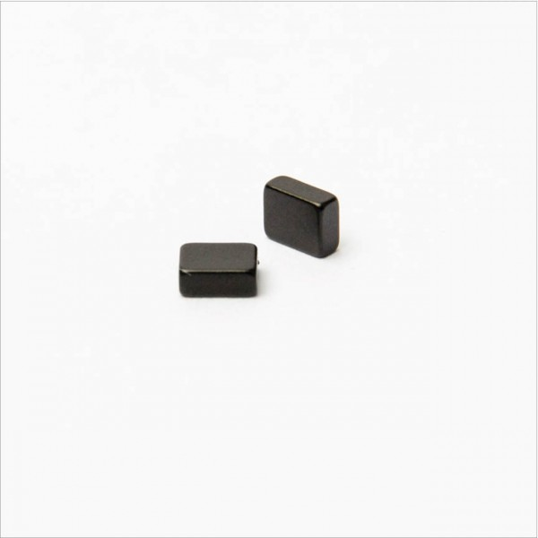 5x4x2mm - N44 NdFeB Quader Magnet - Epoxy schwarz