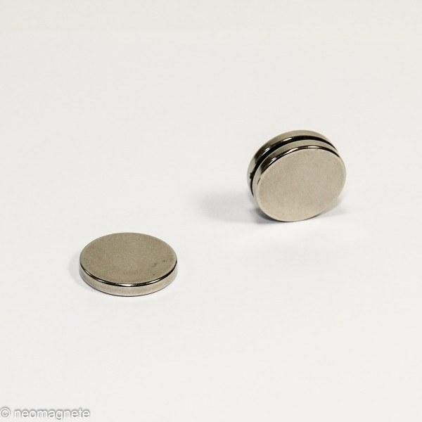 D20x3mm - N42 NdFeB Scheiben Magnet - NiCuNi