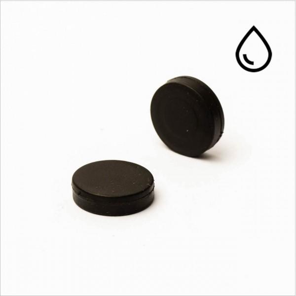 D15x3mm - N35 NdFeB Scheiben Magnet - gummiert/wasserfest