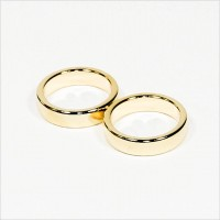D26-d21x6mm - N45 NdFeB PK-Ring Magnet diametral - Gold