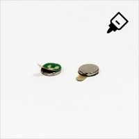 D6x1mm - N42 NdFeB Scheiben Magnet mit 3M Tab - NiCuNi - Süd