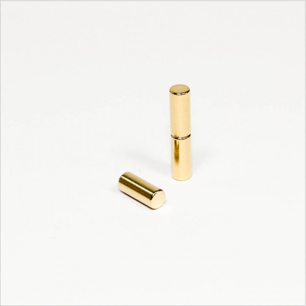 D5x12mm - N42 NdFeB Stab Magnet - Gold