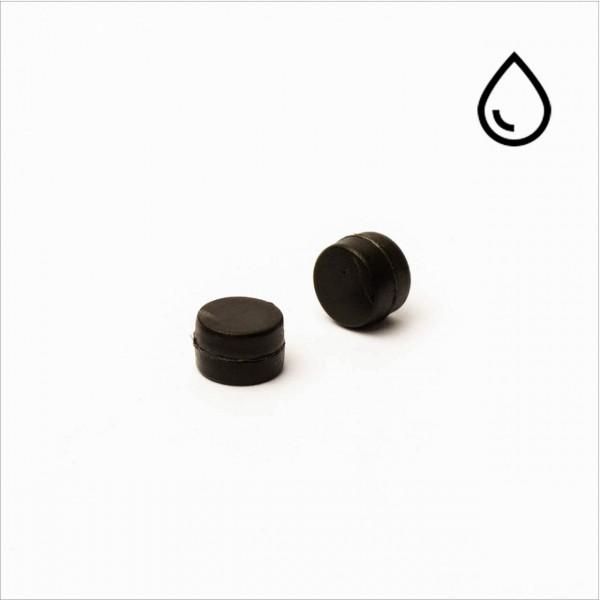 D6x4mm - N35 NdFeB Scheiben Magnet - kunststoffummantelt/wasserfest