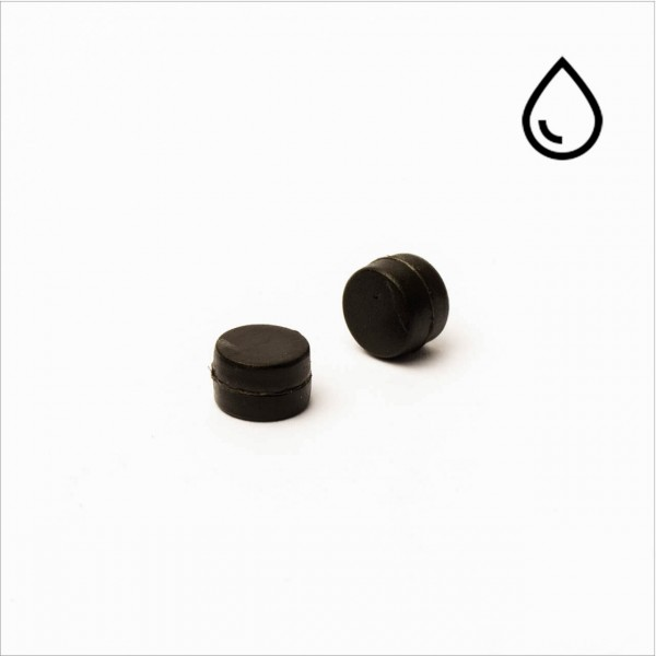 D6x4mm - N35 NdFeB Scheiben Magnet - kunststoffummantelt/wasserdicht