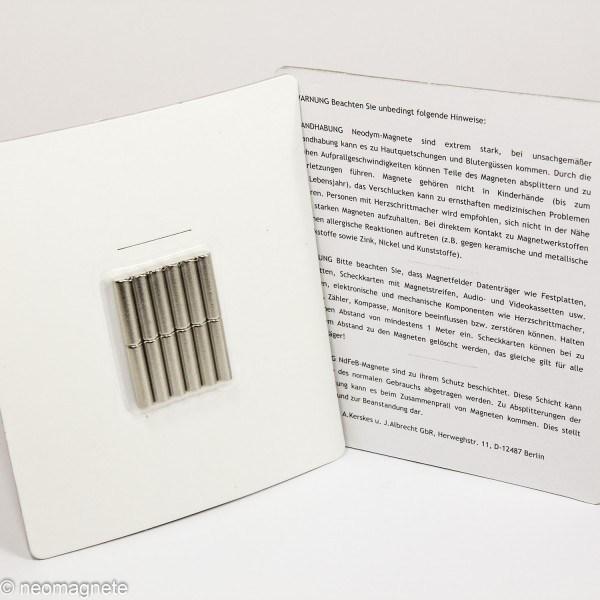 NdFeB Magnet 5x20mm 12 Stk.