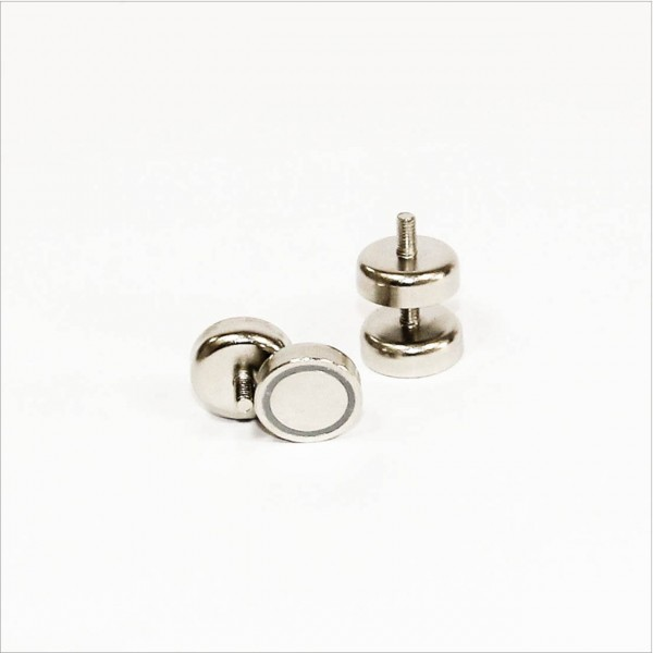 D20mm - N35 Topfmagnet mit Gewinde - NiCuNi