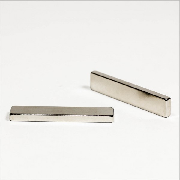50x10x4mm - N42 NdFeB Quader Magnet - NiCuNi