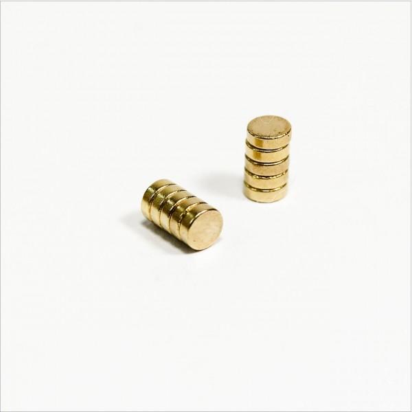 D3x1mm - N42 NdFeB Scheiben Magnet - Gold