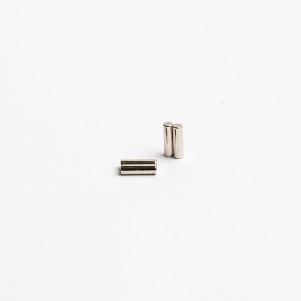 D2x7mm - N45 NdFeB Stab Magnet diamatral - NiCuNi