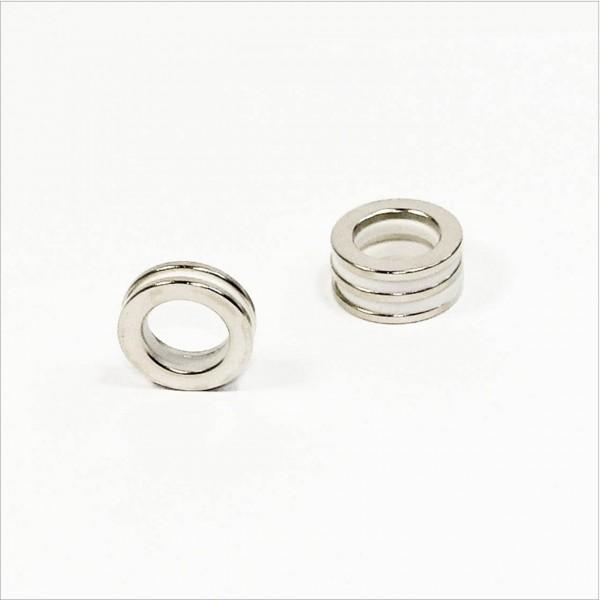 D23-d15x2mm - N35 NdFeB Ring Magnet - NiCuNi