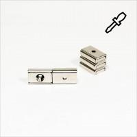 20x13,5x5mm - N35 Flachgreifermagnet Quader - NiCuNi